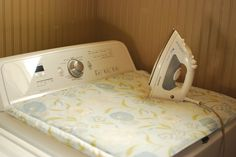 Ironing board for over your washer or dryer