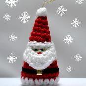 Crochet Santa Christmas Ornament Pattern - via @Craftsy