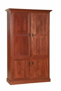 Amish Bookcase with Doors - Choose Shaker, Mission or Country Style