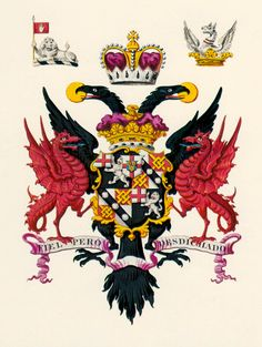 the arms of the dukes of Marlborough, which includes the double-headed eagle of the Holy Roman Empire, -- The title of prince of the Holy Roman Empire was conferred in 1704 upon all the children & lawful descendants, male and female (via the male line), of John Churchill, first duke of Marlborough. But with no male heir, his German Imperial titles became extinct when he died.  In spite of this, it is still common practice to describe the duke of Marlborough as a prince of the Holy Roman…