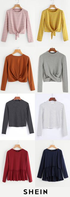 Comfy & cheap T-shirts Pretty Outfits, Fall Outfits, Casual Outfits, Cute Outfits, Fashion Outfits, Fashion Story, Blouse Styles, Suits, Passion For Fashion