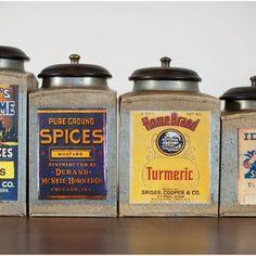 vintage spice jars - Google Search