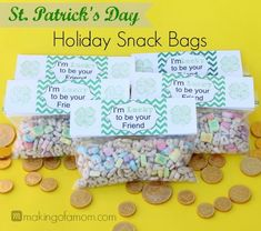 St. Patrick's Day Snack Bags #printable #svgfile