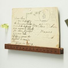 Fun little wall display... Vintage ruler. $9.99 at Ruche.