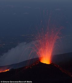 Mount Etna first volcanic eruption of 2014, photo, photo of Mount Etna first…