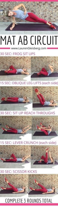 THE BEST 7 1/2 MIN MAT AB WORKOUT - click for moreTHE BEST 7 1/2 MIN MAT AB WORKO