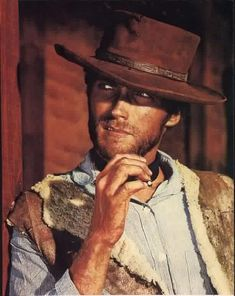 """""""The man with no name"""" ~  Clint Eastwood in A Fistful of Dollars, For a Few Dollars More, and The Good the Bad and the Ugly."""