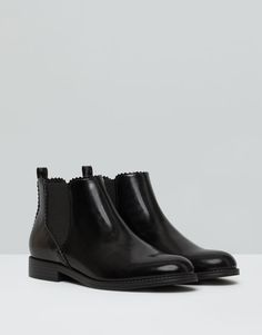 Pull&Bear - mujer - zapatos mujer - botín elástico - negro - 15130011-I2015