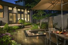 27 Awesome Garden Design Ideas : Modern Backyard Garden Design Ideas With Lighting Modern Backyard, Backyard Garden Design, Modern Landscaping, Outdoor Landscaping, Patio Design, Outdoor Gardens, Home Design, Design Ideas, Backyard Designs