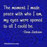 Peace with who I am