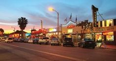 Garnet Ave in Pacific Beach is a long street where many college kids and tourists like to eat and drink.