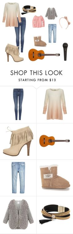 """""""Sin título #48"""" by gabriela-quiroz-1 on Polyvore featuring moda, 7 For All Mankind, Joie, Barbara Bui, UGG Australia, Simons y RED Valentino"""