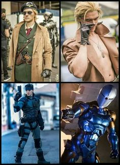 (*** http://BubbleCraze.org - Hot New FREE Android/iPhone Game ***)  Metal Gear Solid cosplay - Kaz, Liquid snake, solid snake, grey fox