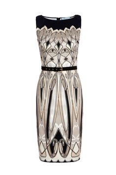 "Art Deco Style – Influenced by the art deco movement, Blumarine designer Anna Molinari has created a capsule collection featuring graphic prints in black, beige and white tones. The line includes clothing pieces ranging from silk printed blouses to knitwear and long gowns. The Italian brand's ""Art Deco"" collection is in Blumarine boutiques worldwide starting... [Read More]"