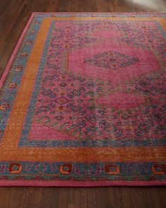 Diantha Rug at Horchow. Not quite 4x6. $375 sale, $500 regular. Love the colors but worry the blue would be too matchy.
