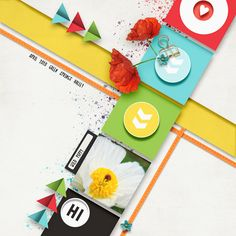 WildPoppy | The Lilypad Scrapbook Templates, Scrapbook Pages, Wild Poppies, Paper Cards, Geometric Shapes, Digital Scrapbooking, Design Elements, Painting, Elements Of Design