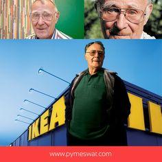 Ingvar Kamprad  fundador de #IKEA inició su empresa dedicándose a la venta de pequeños artículos como cajas de cerillas que entregaba a domicilio con su bicicleta. Cinco años más tarde empezó a vender muebles y en 1951 edita su primer catálogo. Su éxito fue tal que el gremio de vendedores de muebles en Suecia presionó a los fabricantes para que no le suministraran productos, por lo que Kamprad decidió empezar a diseñar y fabricar él mismo sus propios productos. #Emprendedor #Empresarios