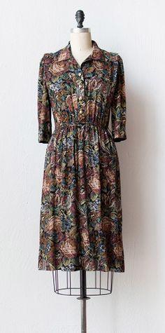 vintage 1980s dress | 80s dress | Casual Brocante Dress