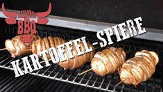 Kartoffel-Speck Spieße vom Grill - Rezept von Feuer und Spice Bbq, Comfort Food, Sausage, Meat, Apple, Food Items, Fire, Barbecue, Barbacoa