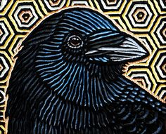 View Lisa Brawn's Artwork on Saatchi Art. Find art for sale at great prices from artists including Paintings, Photography, Sculpture, and Prints by Top Emerging Artists like Lisa Brawn. Crow Painting, Block Painting, Woodcut Art, Bird Applique, Collage Drawing, Gravure, Bird Art, Rock Art, Pet Birds