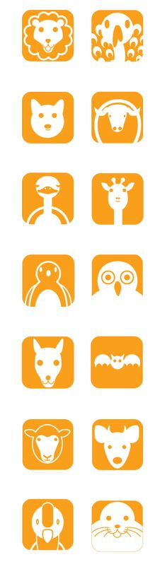 Amazing Pictograms and Icons flock printable  dieren animals
