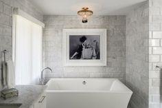 baños con bañera lamparas