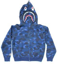 6cadbbc51e5f A Bathing Ape Shark Blue Camo Bape Hoodie Sweatshirt