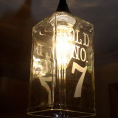 WickedBuy - Old No. 7 Jack Daniels Hanging Pendant Lamp, Matte Black - How many times have you been faced with trying to find something cool...
