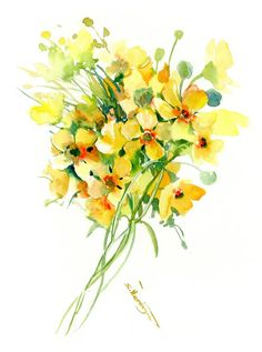 Buy Yellow Buttercups flowers, Watercolor by Suren Nersisyan on Artfinder. Discover thousands of other original paintings, prints, sculptures and photography from independent artists. Watercolor Flowers, Watercolour, Paper Tags, Buttercup, Lovers Art, Impressionist, Buy Art, Original Paintings, Sculptures
