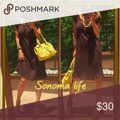 ☀️Life☀️ Well when in Rome, since I do live here I must enjoy the line even if it's just a name!. Gorgeous chocolate brown super light cool feel and fit NWT dress!. Sonoma life Dresses