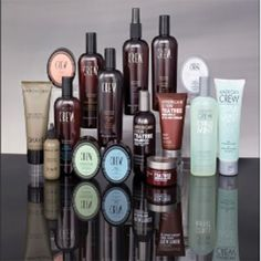 For the man in your life.  There are hair maintenance products that are made for women and products that are made for both men and women. Crew hair products are geared toward hair care for men.