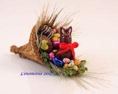 12th Scale Miniature ** Easter Cornucopia **...IGMA Fellow #Linsminis