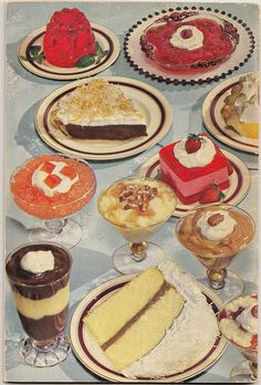 vintage recipes with pictures at DuckDuckGo Retro Recipes, Vintage Recipes, Vintage Baking, Vintage Food, Dessert Recipes, Desserts, Food Illustrations, Aesthetic Food, Cute Food