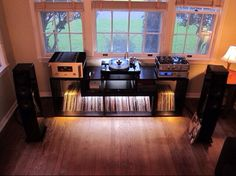 see your unique Stereo Cabinets and Entertainment Centers! - Home Audio Stereo Discussion Forums Sound Room, Stereo Cabinet, Vinyl Room, Vinyl Storage, Record Storage, Audio Room, Decoration Inspiration, Hifi Audio, Audiophile Music