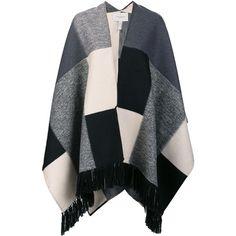Carolina Herrera 'Big Square' poncho ($2,990) ❤ liked on Polyvore featuring outerwear, multicolor and carolina herrera