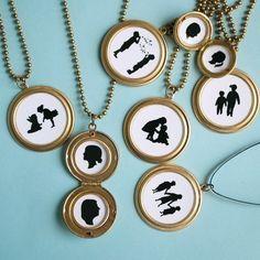 Custom Silhouette Necklace  Children's by LePapierStudio on Etsy, $30.00