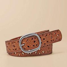 FOSSIL® Clothing Belts:Women Floral Perf Strap Belt BT3869