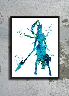 Kalista League of Legends Watercolor Print League of Legends Poster Alternative print Kalista print Lol gift Nursery print Nursery wall art