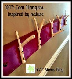 DIY Coat Hangers...inspired by nature #DIY #coathanger