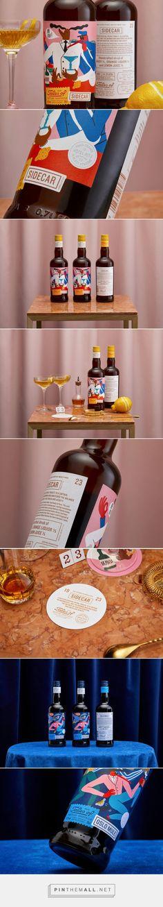 Norwegian bottled cocktail brand design by Agency: OlssønBarbieri