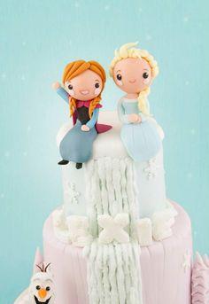 Frozen cake - Anna & Elsa