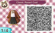 Classic Russet Coat - Animal Crossing New Leaf QR Code