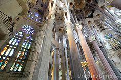 La Sagrada Familia interior by Viorel Dudau, via Dreamstime