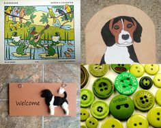 Dogs and more by Anita Toth on Etsy--Pinned with TreasuryPin.com featuring among others Fifi's Dream's vintage children's colour book.