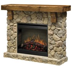 Features:  Product Type: -Electric fireplace.  Style: -Rustic.  Finish: -Oak.  Material: -Stone/Wood.  Fuel Type: -Electric.  -Inner glow logs molded from wood logs for incredible realism.  -Flame ope                                                                                                                                                      More