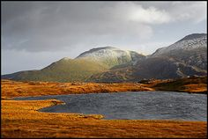 Loch Tarbhaidh, Beinn Spionnaidh and Cranstackie, Highlands, Scotland