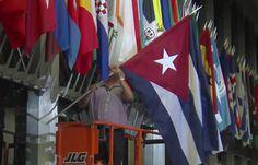 Cuban Flag Raised At U.S. State Department