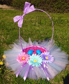 Tutu inspired girls easter basket by madewithlovebymommy on etsy tutu inspired girls easter basket by madewithlovebymommy on etsy 2500 easter pinterest tutus easter baskets and baskets negle Images