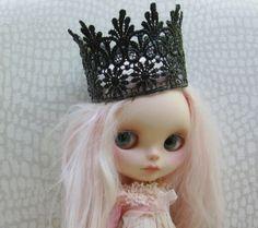 Blythe Black Lace Crown by moma10 on Etsy,