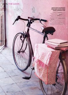 #bike #books #pink